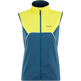 GORE WEAR R7 Partial Gore-Tex Infinium bodywarmer Dames, deep water blue/citrus green